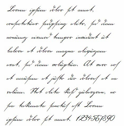 12 Old Handwritten Fonts Images