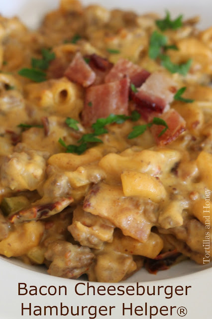 Bacon Cheeseburger Hamburger Helper® | Tortillas and Honey
