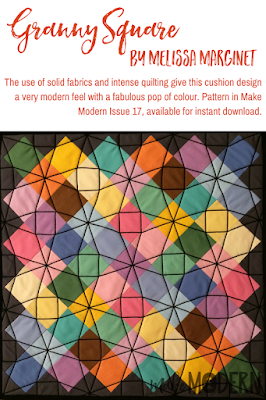 Make Modern Issue 17 Granny Sqaure Melissa Marginet solids modern quilting