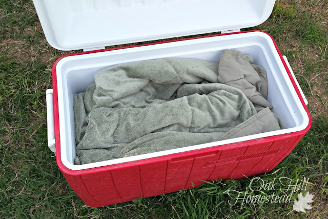 How to cook dinner in a cooler.