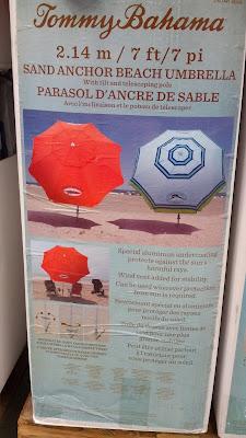 Tommy Bahama 7 Ft Round Sunblocking Beach Umbrella With