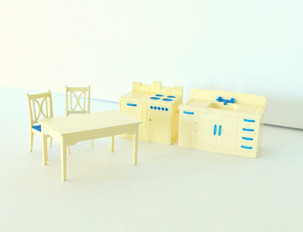 Retro 1960s 1950s Dollhouse Furniture for Sale