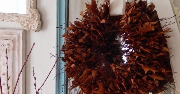 Ghirlanda di foglie secche