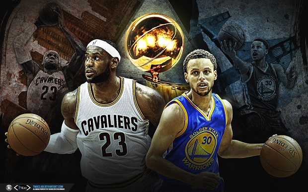LeBron James et Stephen Curry NBA Finals
