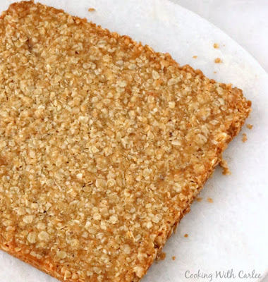 oatmeal bars dumped out of the pan