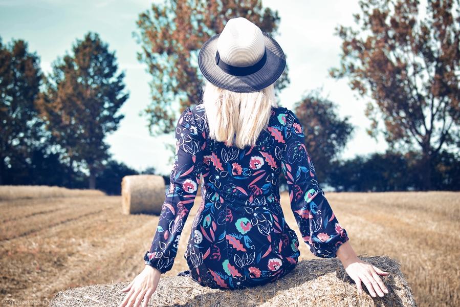 pole, moda, sukienka, midi, bonprix.pl, kapelusz, szaleo,