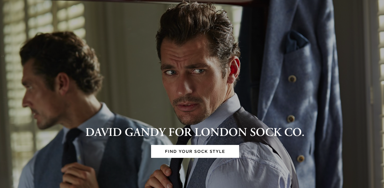 London Sock Company David Gandy Collaboration