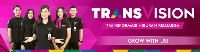 Lowongan Kerja PT Indonusa Telemedia (Transvision) Lulusan SMU, SMK, Diploma, Sarjana Jobs: Direct Sales, Sales Promotion Internet TV, Sales Variable, Trans VP (Transvision Promoter), Content Acquisition Services Support, Etc