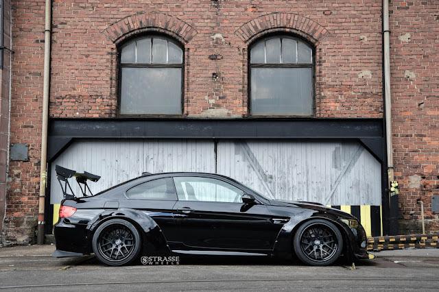 Supercharged Liberty Walk BMW M3 E92 On Strasse Wheels