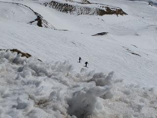 Paul und Siggi auf dem Weg zum Gipfel