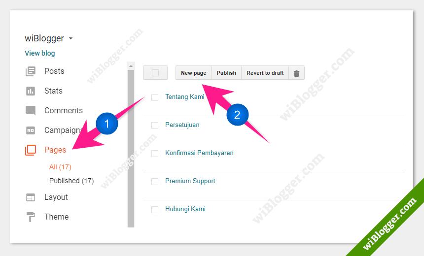 Cara membuat halaman blog
