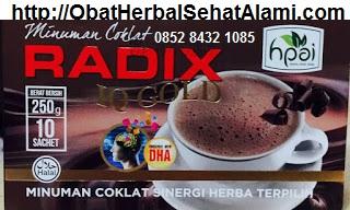 khasiat coklat Radix IQ Gold hpai asli original untuk kecerdasan otak