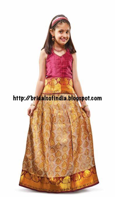 bb05671156db Fashion world  Kids Pattu Pavadai - RmKV Silks