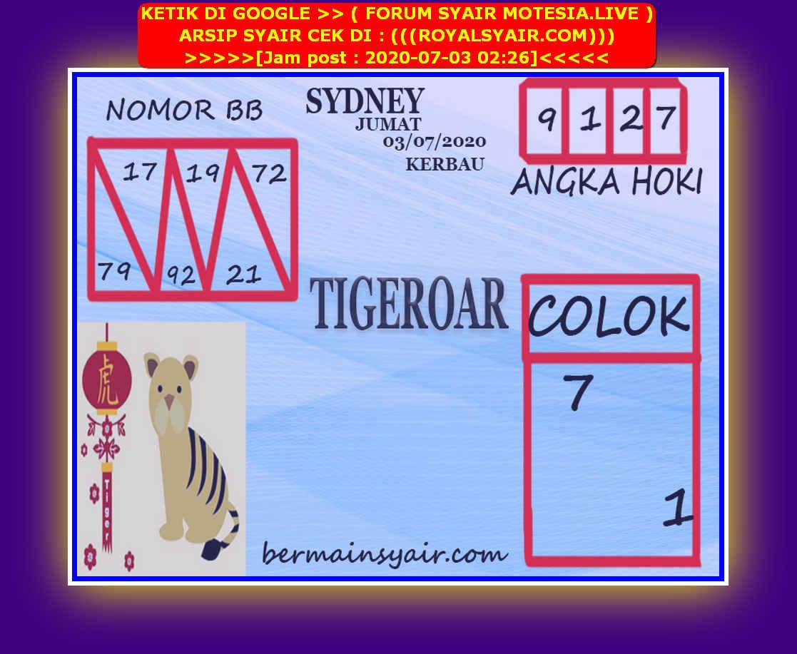 Kode syair Sydney Jumat 3 Juli 2020 212