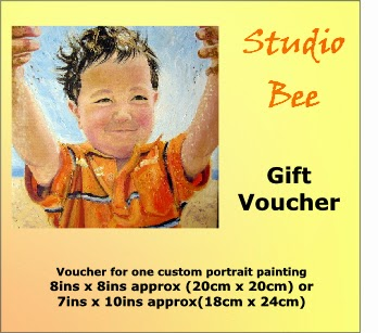 portrait from photo, gift certificate, gift voucher,