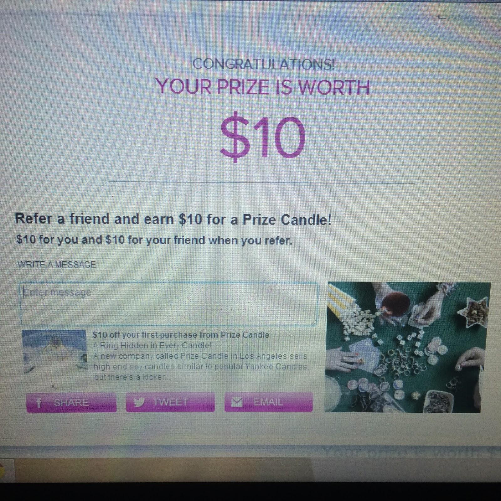 #prizecandle $10 prize ring