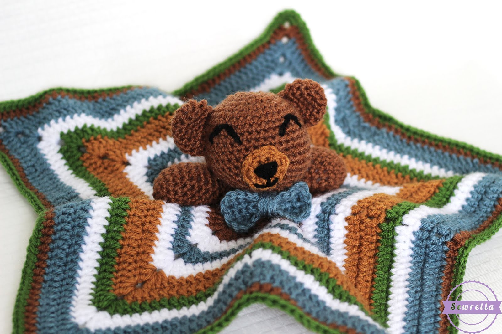 The Cuddliest Crochet Bear Lovey Sewrella