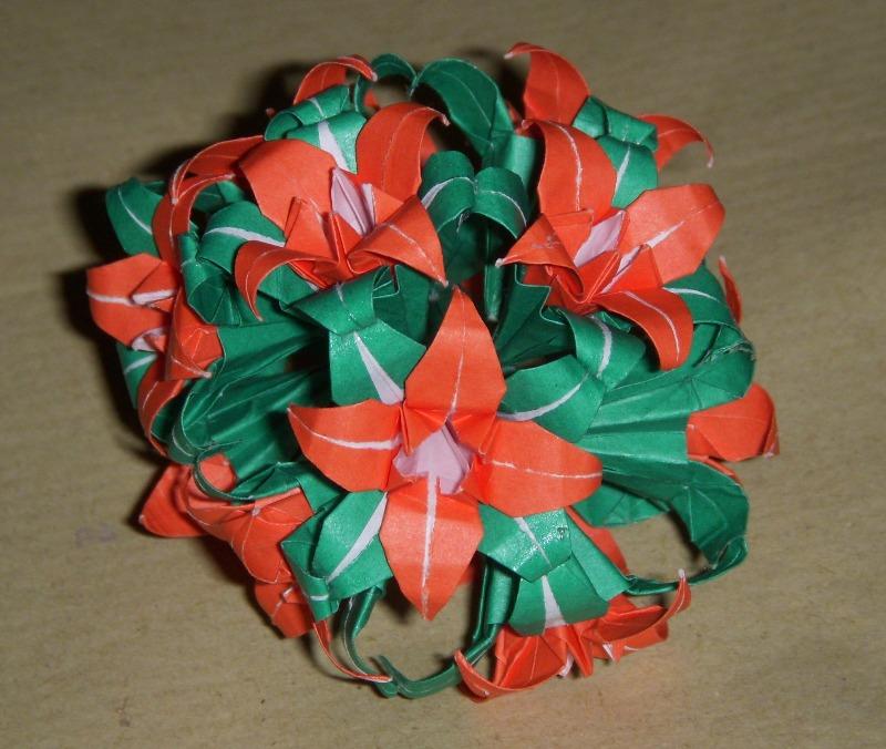 Origami Origami Iris Kusudama
