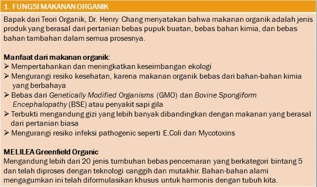 Cara Diet Dengan Melilea Organic