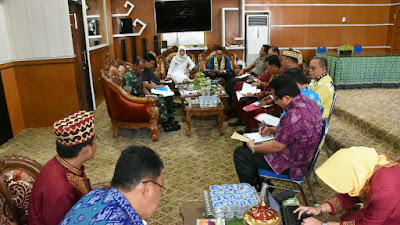 Bupati Lampung Timur Pimpin Rapat Forum Koordinasi Pimpinan Daerah (Forkopimda)