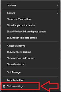 Cara Pindahkan Lokasi Taksbar Windows 10