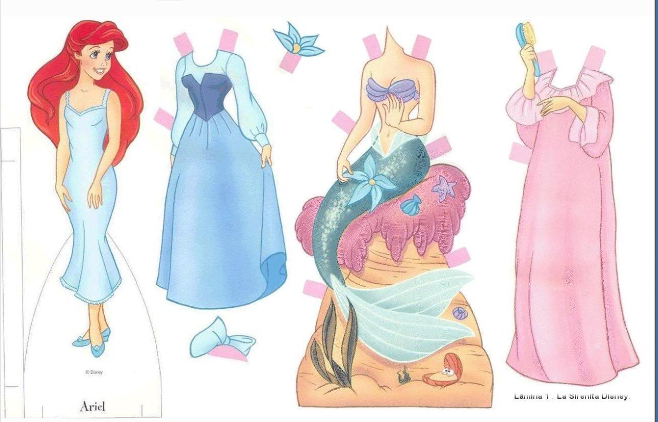 Athalia princess paper doll ariel