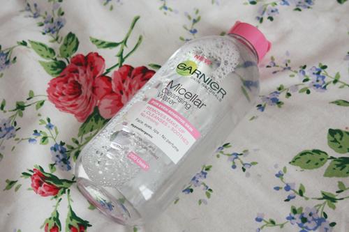 garnier micellar water on francescasophia.co.uk