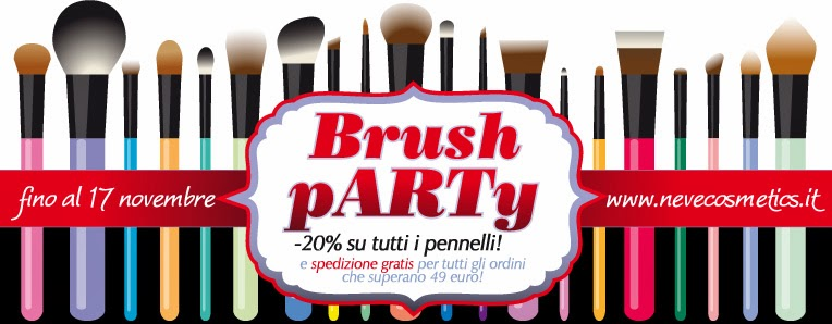 Neve Cosmetics - Brush Party e promozione pennelli -20%