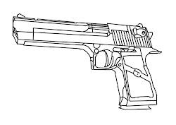 line pistol weapon drawing weapons eagle desert concept magnum harris jessica final
