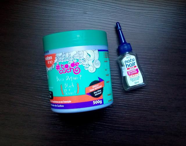 Salon Line linha Tô de Cacho Creme para pentear Bora Definir, Óleo de Argan Natu Hair