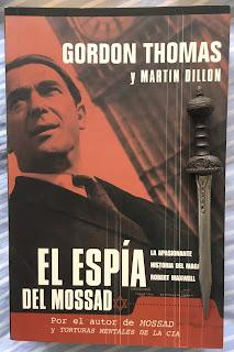 Portada del libro El espía del Mossad, de Gordon Thomas y Martin Dillon