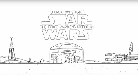 Star Wars VII: The Force Awakens Speedrun | Episode VII in 60 Sekunden (Animationsfilm)