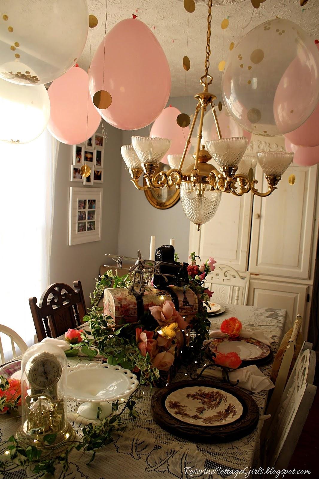 RoseAndGold Birthday Party Decorating Event Cottage ShabbyChic Vintage