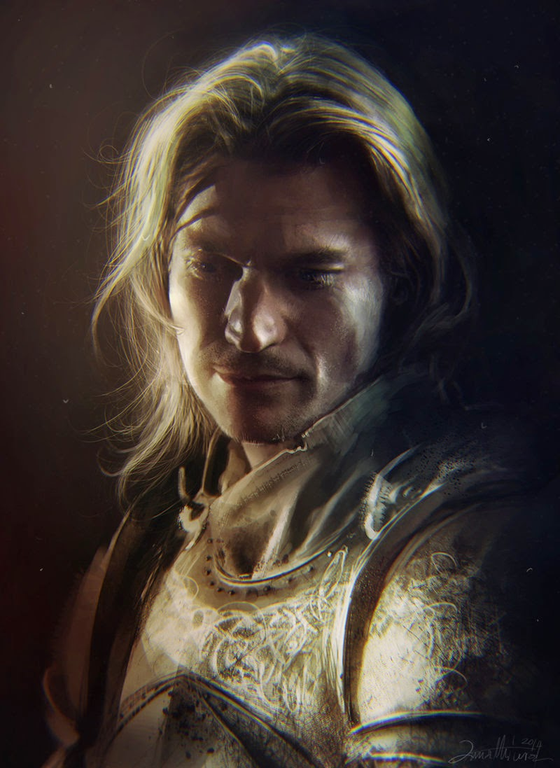 02-Jaime-Lannister-Ania Mitura-GoT-Game-of-Thrones-Digital-Paintings-www-designstack-co