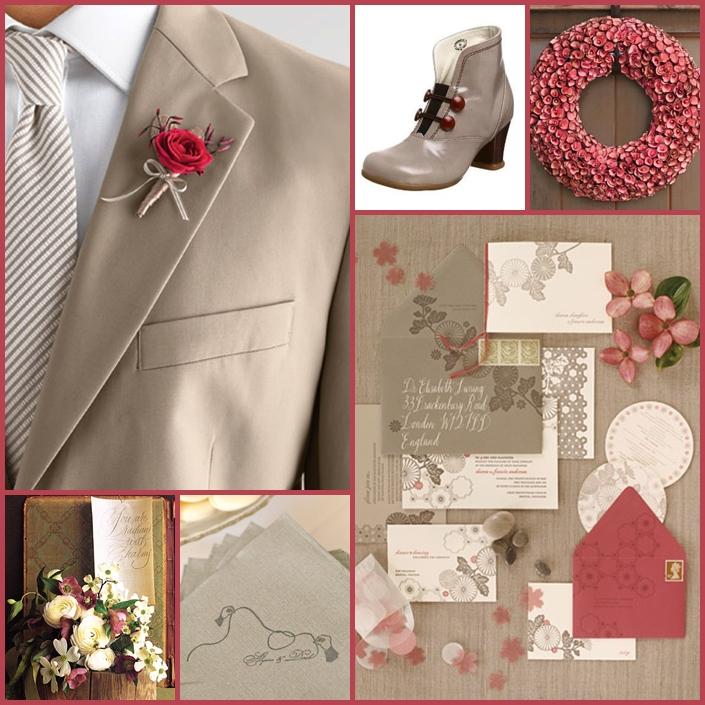 WEDDING EVER AFTER: WEDDING THEME: DARK PINK PLUS GRAY