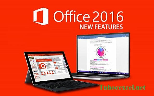 bộ ứng dụng văn phòng Office 2016