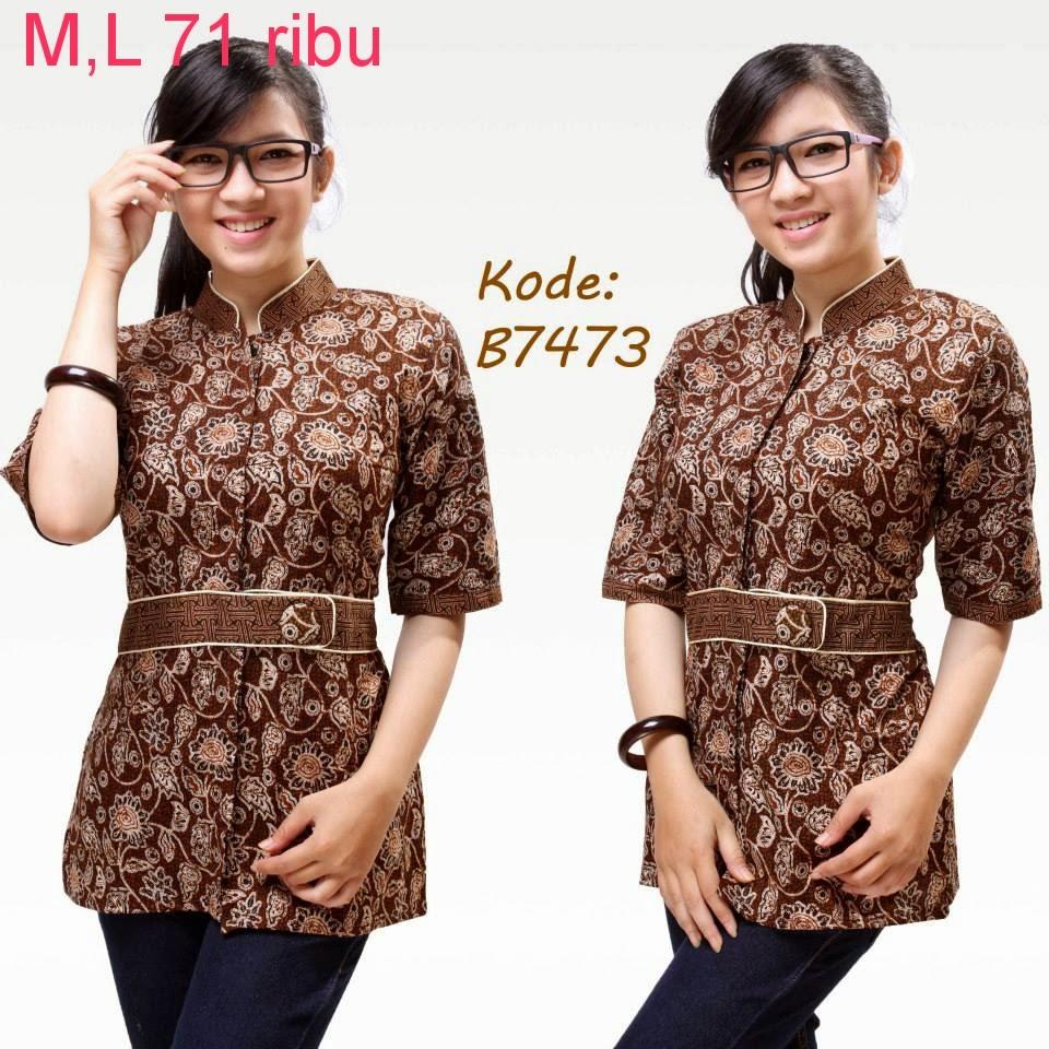 Model Baju Batik Terbaru: Model Baju Batik Wanita Untuk Kerja