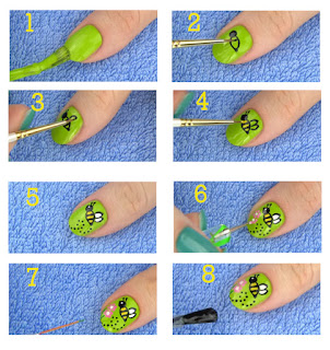 cute animals nail art tutorial