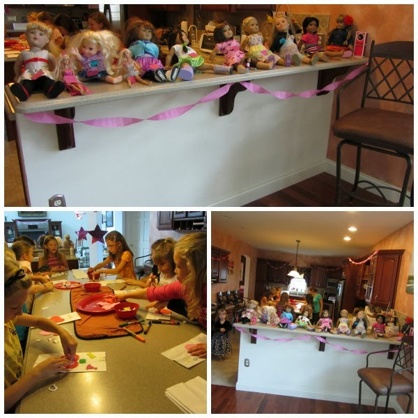 once their goody bag was decorated with their name on it too they went into the dining room to make their crafts three stations were set up - How To Make A American Girl Room