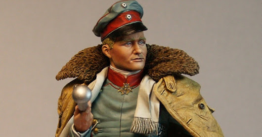 Red Baron Bust by Alexandros Models