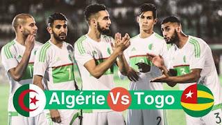 مشاهدة مباراة الجزائر و توغو مباشر اليوم تصفيات كأس أمم إفريقيا