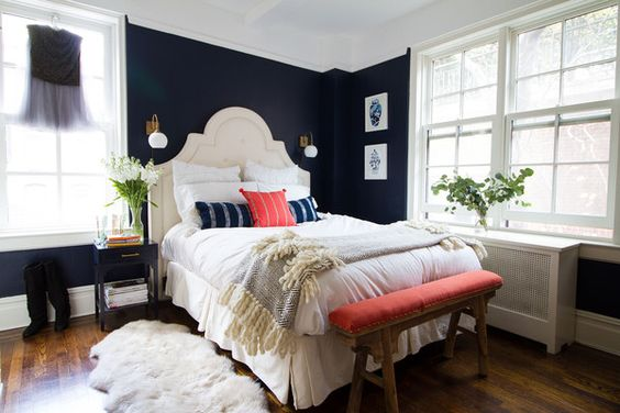 How To Design Tips For A Bedroom With Off Center Windows Something Lovely