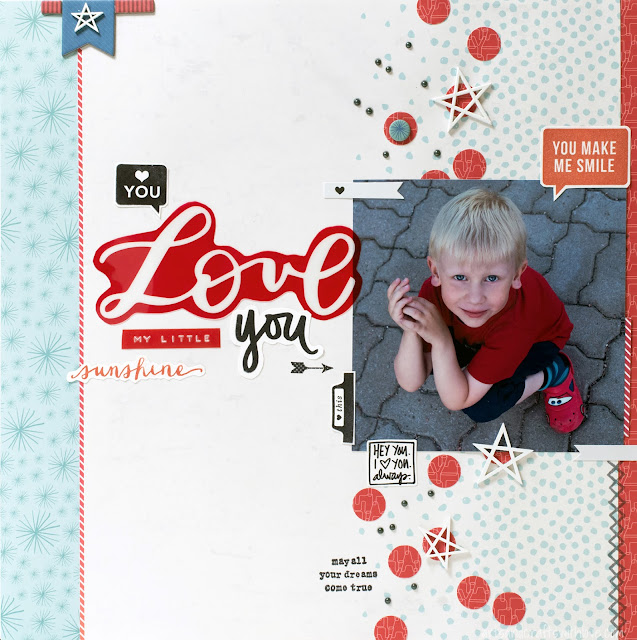 Scrapbooking Layout with Studio Calico kit