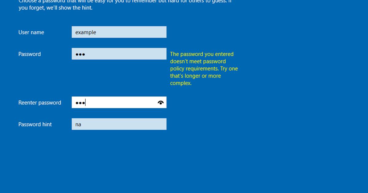 修改 Windows Server 2016 的密碼政策