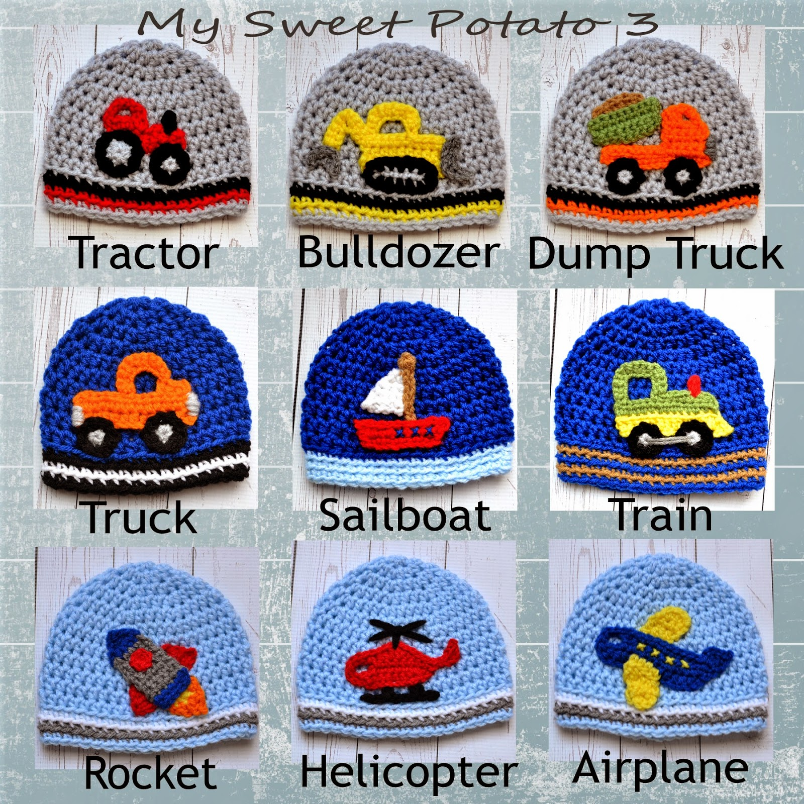 All Boy Applique Crochet Patterns