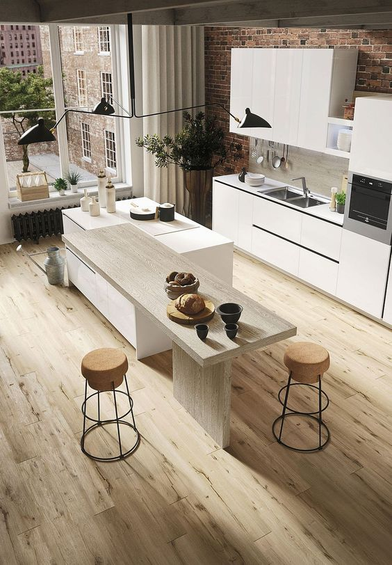 Interior Design - Cucina rustica moderna