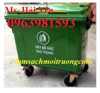 Xe gom rác nhựa, xe gom rác 660l, xe gom rác công nghiệp giá rẻ
