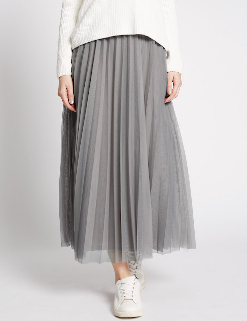 Marks and Spencer Mesh A Line Skirt