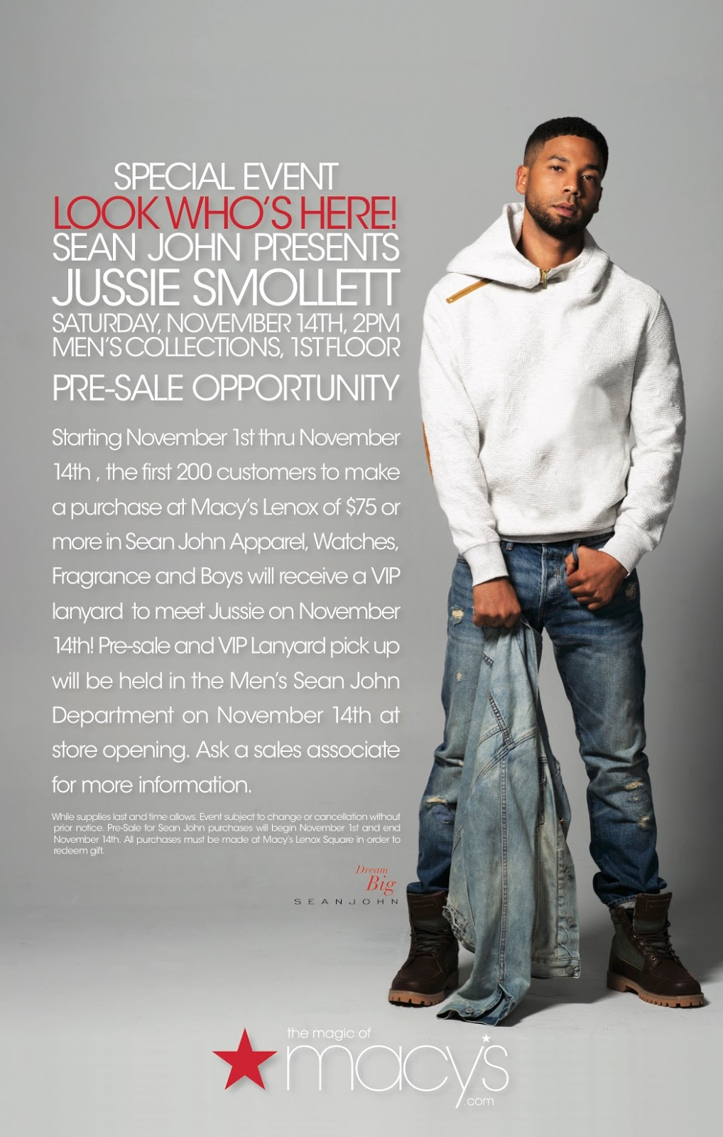 jussie smollett at lenox square November 14