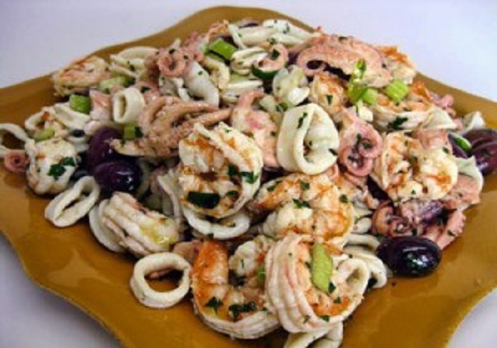 Resep Seafood Salad With French Dressing